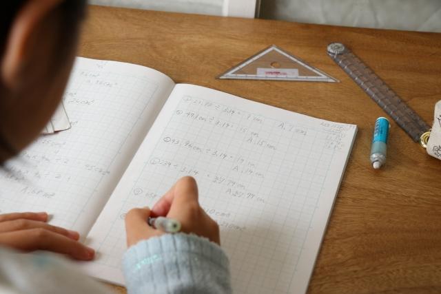 数学の家庭学習のイメージ