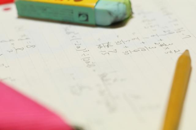 数学のノートと文房具