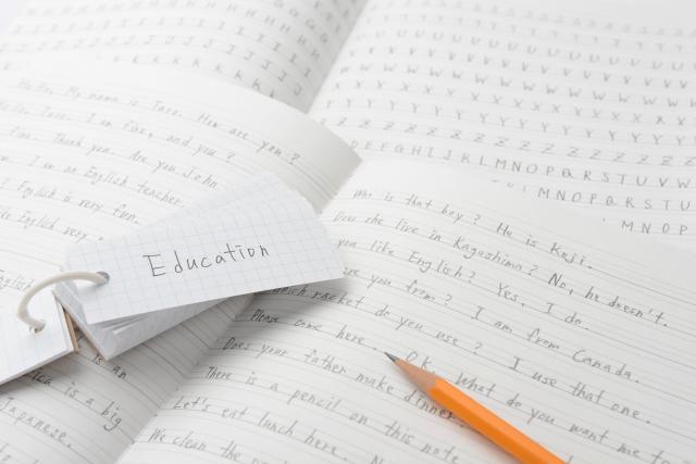 英語のノートと単語帳